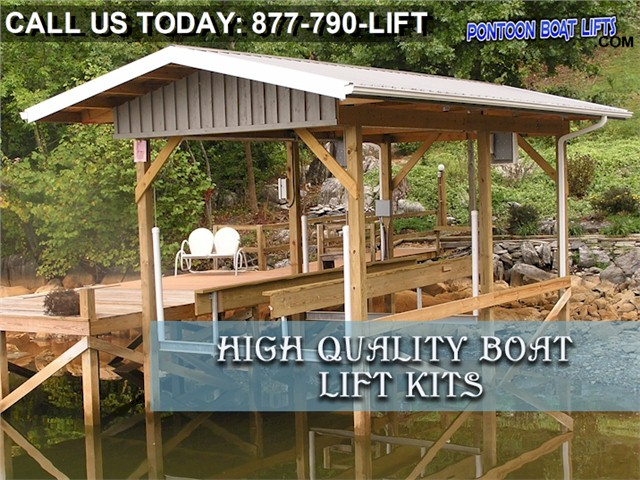 how to build a pontoon boat lift